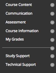 standard course structure menu