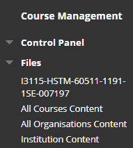 Blackboard files - content collection